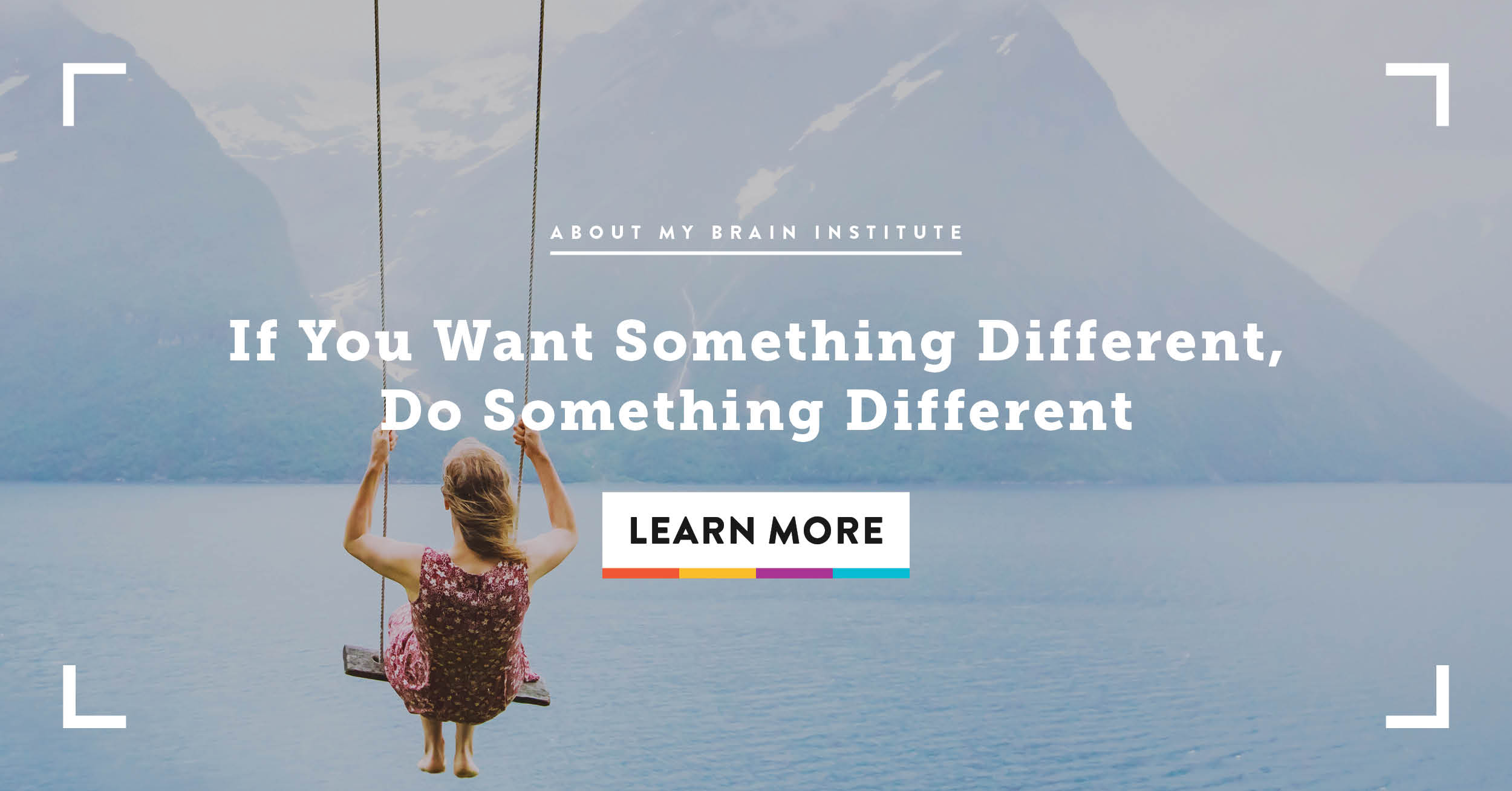 If You Want Something Different, Do Something Different